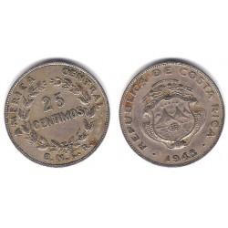 (175) Costa Rica. 1948. 25 Céntimos (BC)