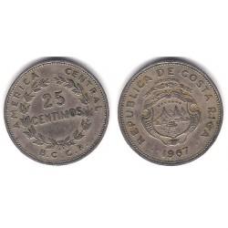 (188.1) Costa Rica. 1967. 25 Céntimos (BC)