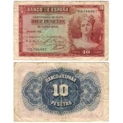 España. 1935. 10 Pesetas (BC) Serie C