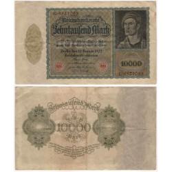 (71) Imperio Alemán (Weimar). 1922. 10000 Mark (MBC)