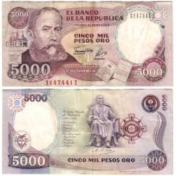 (436A) Colombia. 1993. 5000 Pesos Oro (BC)