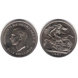 (880) Gran Bretaña. 1951. 1 Crown (SC)