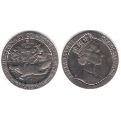 (224) Isla de Man. 1988. 1 Crown (SC)