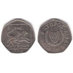 (66) Chipre. 1996. 50 Cents (MBC)
