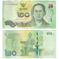 (118) Tailandia. 2013-16. 20 Baht (MBC+)