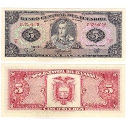 (113d) Ecuador. 1988. 5 Sucres (SC-)