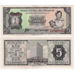 (195b) Paraguay. 1963. 5 Guaranies (EBC)