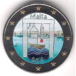 Malta. 2018. 2 Euro (SC) Coloreada