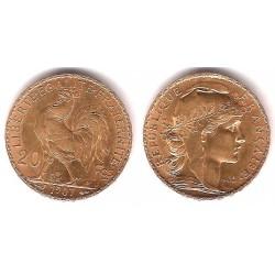 Francia. 1907. 20 Francs (EBC+) (Oro)