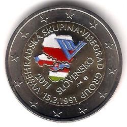Eslovaquia. 2011. 2 Euro (SC) Coloreada