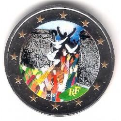 Francia. 2019. 2 Euro (SC) Coloreada
