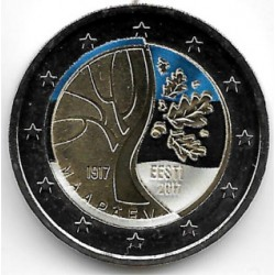 Estonia. 2017. 2 Euro (SC) Coloreada