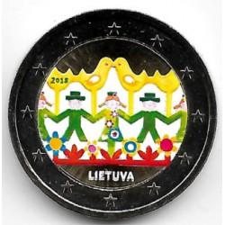 Lituania. 2018. 2 Euro (SC) Coloreada