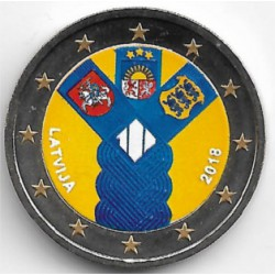 Letonia. 2018. 2 Euro (SC) Coloreada