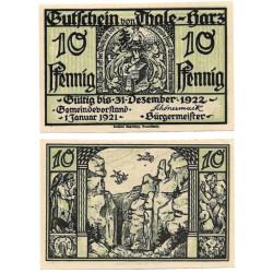 Thale-Harz (Sajonia-Anhalt). 1922. 10 Pfennig (EBC+)