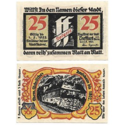 Treffurt (Turingia). 1921. 25 Pfennig (EBC+)