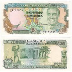 (32b) Zambia. 1989-91. 20 Kwacha (SC)