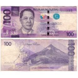 (222) Filipinas. 2019. 100 Piso (BC+)