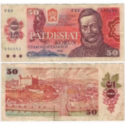 (96a) Checoslovaquia. 1987. 50 Korun (BC)