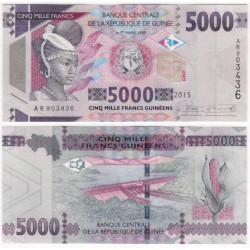 (49) Guinea. 2015. 5000 Francs (SC)
