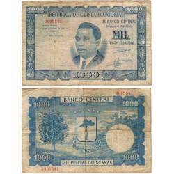 Guinea Ecuatorial. 1969. 1000 Pesetas (BC) Pequeñas roturas