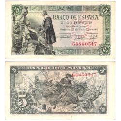 Estado Español. 1945. 5 Pesetas (EBC+)