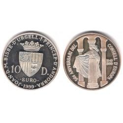 (154) Andorra. 1999. 10 Diners (SC) (Plata)