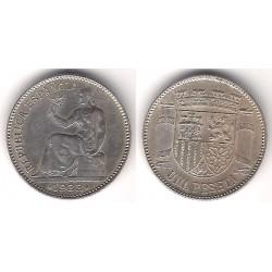 España. 1933*(3-4). 1 Peseta (EBC) (Plata)