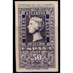 (1075) 1950. 50 Céntimos. Cent. Sello Español (Nuevo)