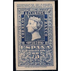 (1076) 1950. 75 Céntimos. Cent. Sello Español (Nuevo)