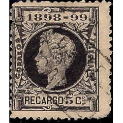 (240) 1898. 5 Céntimos. Alfonso XIII (Usado)