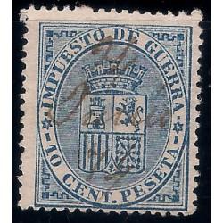 (142) 1874. 10 Céntimos. Escudo de España (Usado)