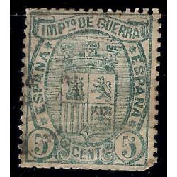 (154) 1875. 5 Céntimos. Escudo de España (Usado)