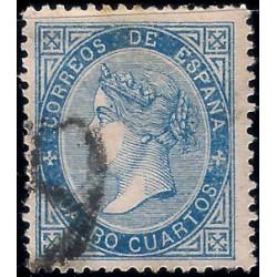 (88) 1867. 4 Cuartos. Isabel II (Usado)