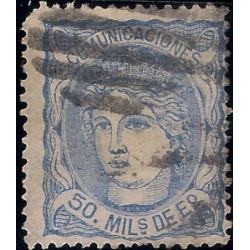 (107) 1870. 50 Mils. de Escudo. Efigie Alegórica de España (Usado)