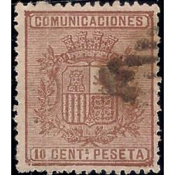 (153) 1874. 10 Céntimos. Escudo de España (Usado)