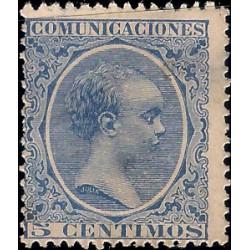 (215) 1889. 5 Céntimos. Alfonso XIII (Nuevo, sin goma)