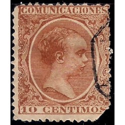 (218) 1899. 10 Céntimos. Alfonso XIII (Usado)