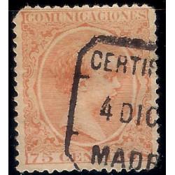 (225) 1889-1901. 75 Céntimos. Alfonso XIII (Usado)