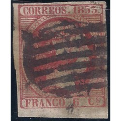 (17) 1853. 6 Cuartos. Isabel II (Usado)