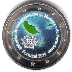 Portugal. 2019. 2 Euro (SC) Coloreada