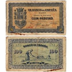 España (Gijón). 1937. 1000 Pesetas (RC) Roturas