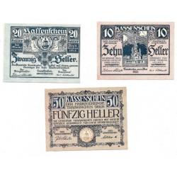 Traiskirchen (Baden, Baja Austria). 1920. Serie (3 Valores) (MBC+)