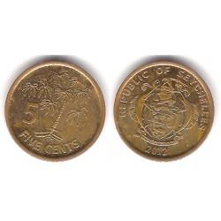 (47a) Seychelles. 2010. 5 Cents (MBC)