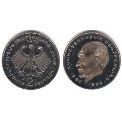 (124) Alemania. 1978(J). 2 Mark (Proof)