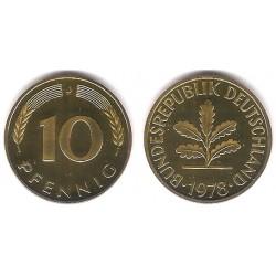 (108) Alemania. 1978(J). 10 Pfennig (Proof)