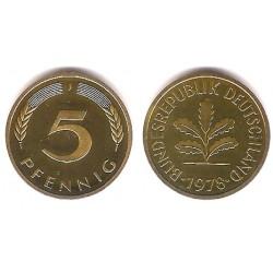 (107) Alemania. 1978(J). 5 Pfennig (Proof)