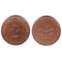 (106a) Alemania. 1978(J). 2 Pfennig (Proof)