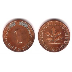 (105) Alemania. 1978(J). 1 Pfennig (Proof)