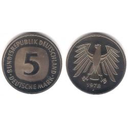 (140.1) Alemania. 1978(J). 5 Mark (Proof)